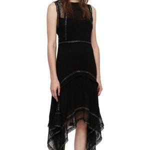 NWT AllSaints Alicia Sleeveless Lace Midi Dress